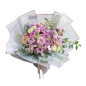Wholesale Luxury Plastic Flower Wrapping Paper Waterproof With Gold Edge In Stock