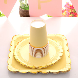Birthday Party Supplies Napkin cup and Paper Cake Plate Eco-friendly Kids Dinner Plate Sets