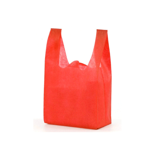 High quality biodegradable customized logo non woven vest bags color gift bag