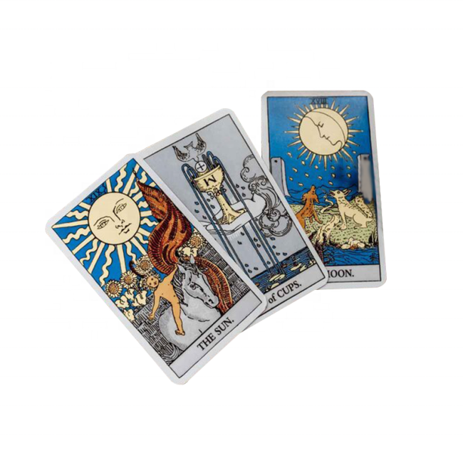 Amazon Best Selling Oracle Future Paper Gaming Playing Cards Mysterious Tarot Card With Paper Boxes Packaging