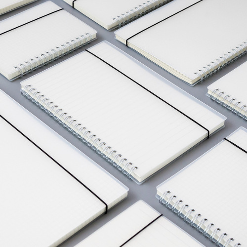 Wholesale High Quality promotional reusable eco-friendly a6 a5 a4 wire custom transparent PP spiral notebook