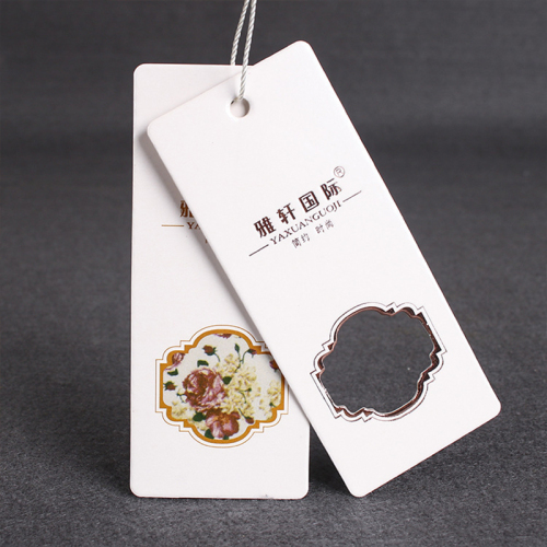 Wholesale Fashion Design Personalized Custom Printing Garment Clothing Rope String Paper Hang Tags