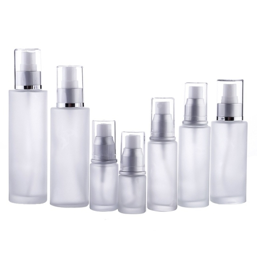 Professional custom cosmetic glass bottle empty bottle cosmetic packaging with insert