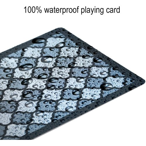 High quality custom made 310g black core paper black water proof  playing cards