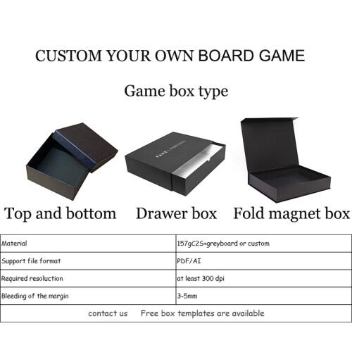 Factory OEM custom paper printing educational board games
