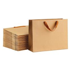 Fashion Printed Custom Medium Brown Kraft Paper Bags