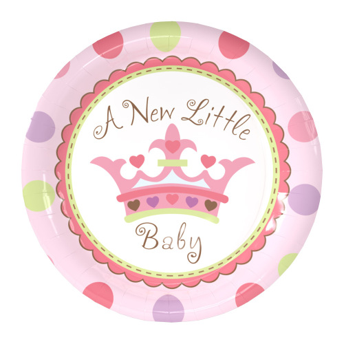 Customized Logo Printed Kids Birthday Party Supplies Big 9 Inches Round Birthday Paper Plate
