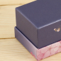 Logo custom packaging paper jewelry box gold foiled gift box packaging
