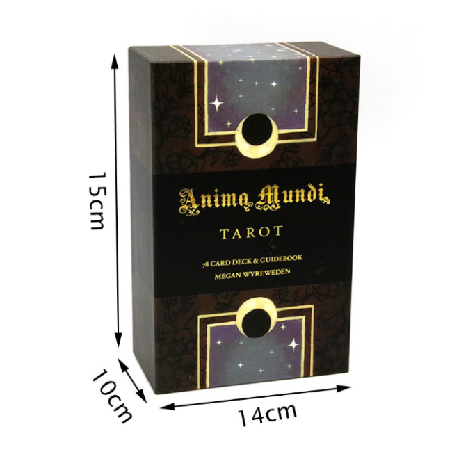High quality Custom printed gold edge playing tarot cards with guidebook