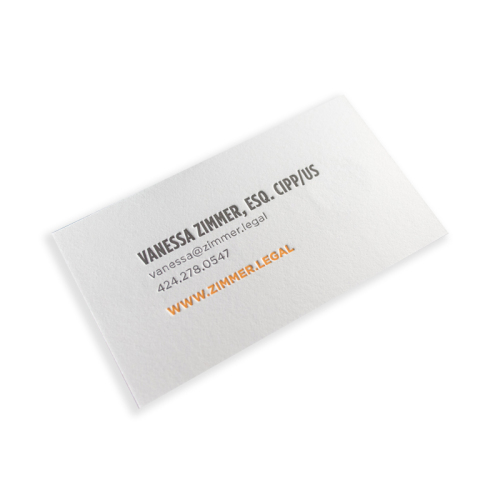 Custom Printing Gold Foil Print 300gsm White Paper Business Cards