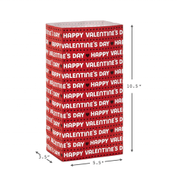 Valentines Party Wrapped Treat Bags Happy Valentine's Day White Kraft Paper Bag For Classroom Parties, Sack Lunches