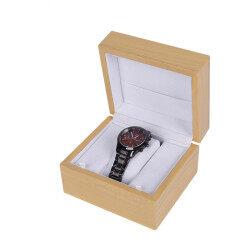 wholesale reusable eco friendly Bamboo watch box Custom logo wooden watch single packaging box