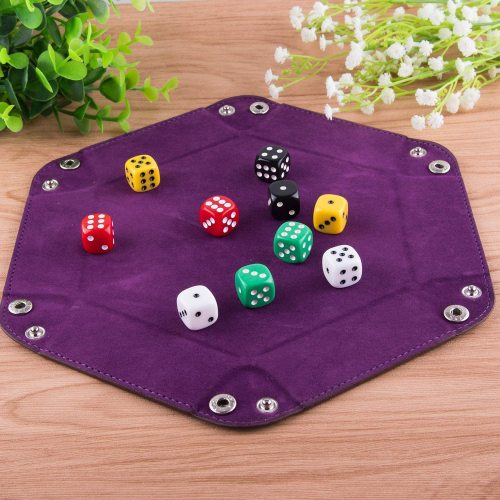 Custom made PU Leather Dice Holder Foldabledice tray for board game