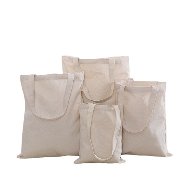 Shopping Shoulder Packaging Gift Tote Fashion Women Custom Cotton Tote Canvas Bags with Pocket