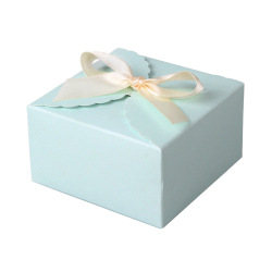 Customized white cake boxes flap lid packaging custom logo packaging box with handle