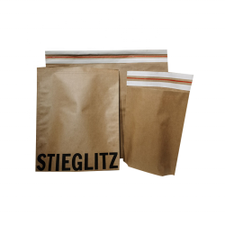 120gsm Kraft Paper Sacks Mail Courier Bag With Adhesive Tapes Biodegradable Recycled Paper Mailing Clothing Shoe Bags