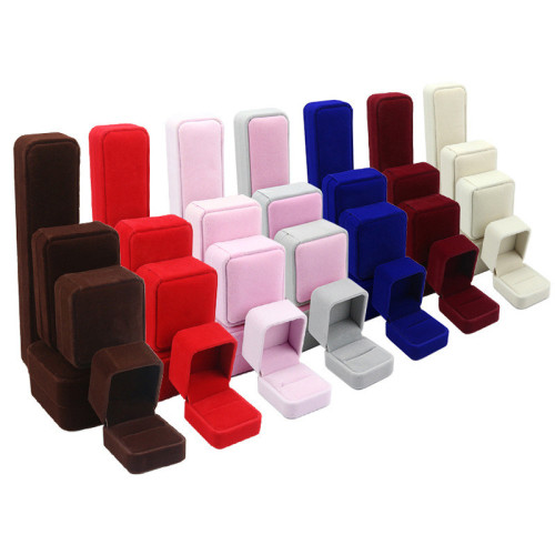 Custom high quality very soft velvet jewelry box with deboss logo