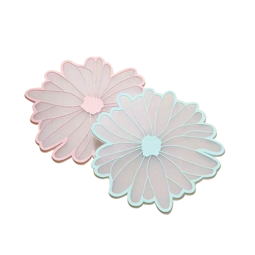 Flower Shape Silicone Placemat Heat Resistant Washable Dinner Table Mat Thermal Coaster