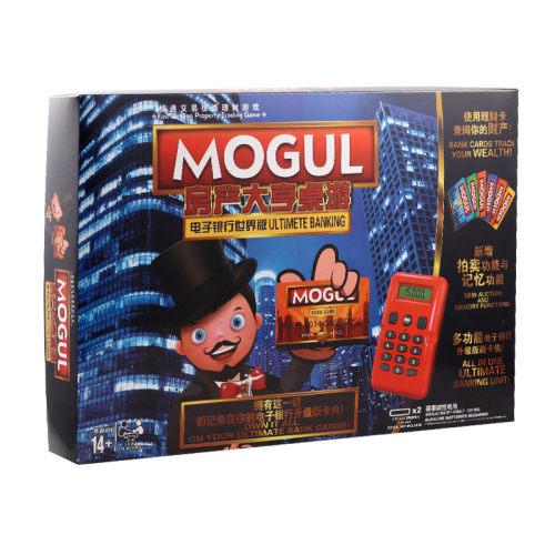 Real estate tycoon mogul board game card custom game board game toy manufacturers direct sales