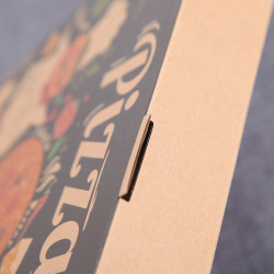 Wholesale Kraft Paper Package Compostable Corrugated Raw Material Custom All Sizes Black Pizza Box with Logo