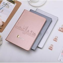 Custom Logo A5 Hardcover Travel Notbook Journal PU Leather Dot grid 160gsm thicken Paper Aganda Notebook Buy Online Stationery