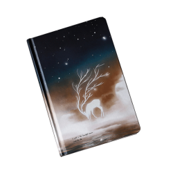 2021 Creative illustration luminous hardcover diary color page hand book elk notebook