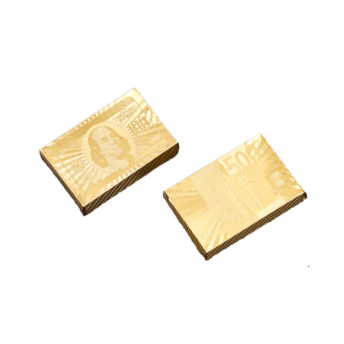 Waterproof Gold Foil Playing Cards Spot Wholesale Custom Logo Printing Creative Advertising Playing Cards