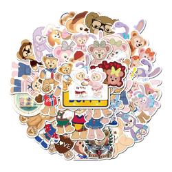 High quality custom printing logo label shiny die cutting sticker uv self adhesive waterproof cartoon sticker sheets