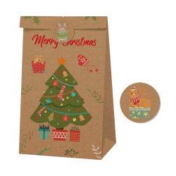 Gift bag With Logo Large Brown Food Paper Bag Recycled With Handle Custom Shopping Bag