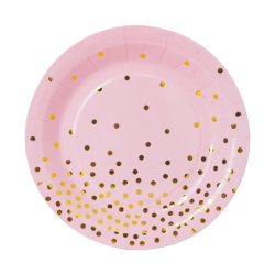 Tableware Set Polka Dot Paper Cup Paper Plate Black Popular Birthday Party Pennant Plate Dish Home Hotel Restaurant Recyclable