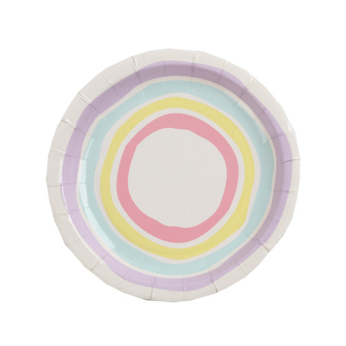 Custom Napkin Cup Paper Plates Party Western Style Dinner Paper Plates Set
