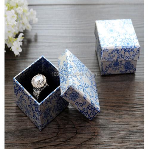 Modern designer hard cardboard custom printed jewelry boxes