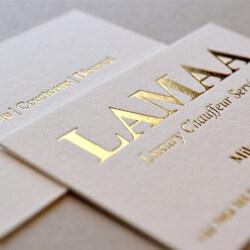 Elegant Gold Silver Foil Emboss Finishing White Paper Custom Business Printing Card