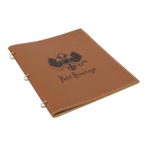Fashion Brown PU Leather A4 Conference File Folder