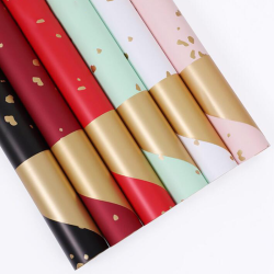 Hot sale 60cm*60cm square fresh flower wrapping papers pure color bouquet packaging paper