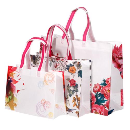 Custom Bag Glossy Laminated Non Woven Reusable Thank You Gift Bag