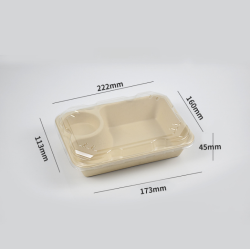 \Friendly Wheat Straws Lunch Box Buy Disposable Food Containers Take Away Container Lunch Box Biodegradable