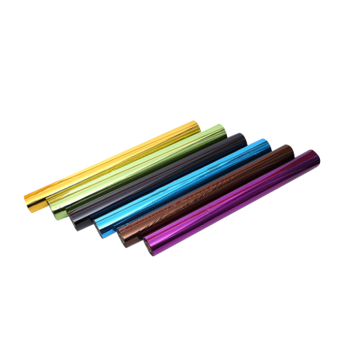 High speed metallic color Crown kurz replace paper plastic fabric leather PP tube hot stamping foil full transfer foil
