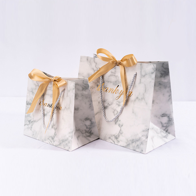 Customised Premium White Coated Gift Paper Bags