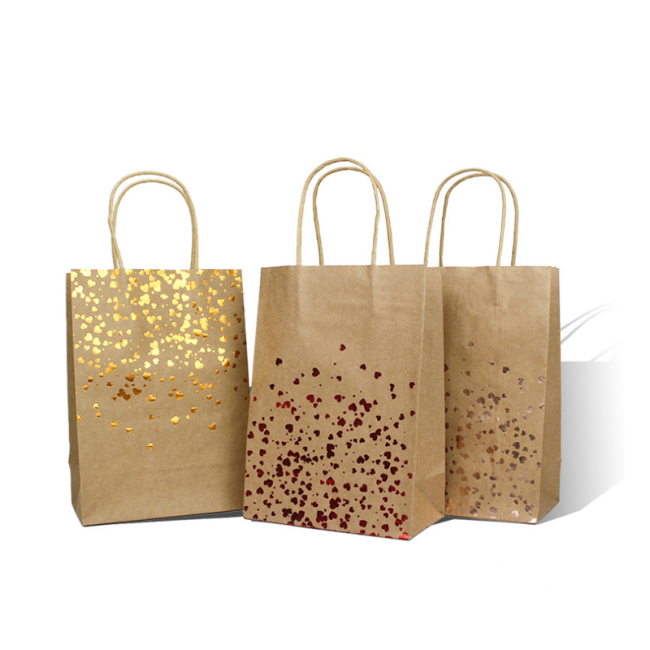 Custom Printed craft paper shopping paper bag with your own logo