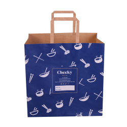Wholesale custom printed gift natural kraft Recycled paper bag gift bags