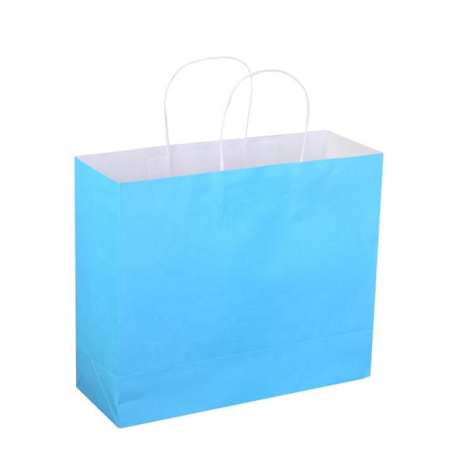 Custom Print Kraft Paper Shopping Gift Bag with Custom Logo