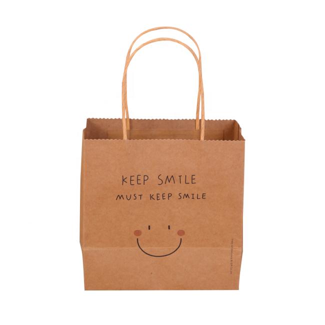 New design eco-friendly kraft gift paper bag