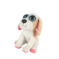 pink husky stuffed plush toy dog for kids