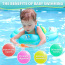 Inflatable Baby Swim Float with Bottom Support Swimming Pool Accessories-Help Baby Learn to Kick and Swim