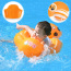 Baby Pool Float with Canopy 12 Months Baby Inflatable Float Sun Protection Baby Swimming Float Baby Head Float Ring for Bathtub Swimming Pool Accessories for Age of 3-30 Months