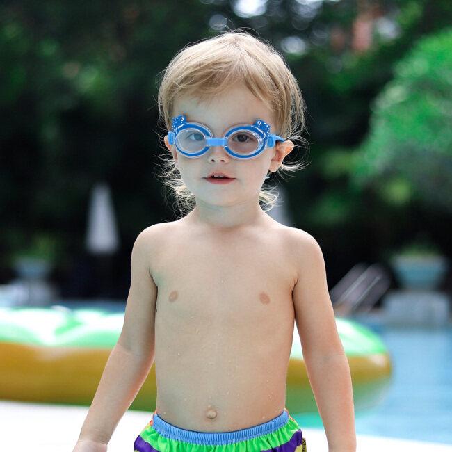 Swim Goggles + Swim Cap Sets for Kids