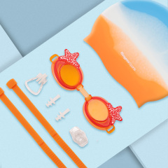 Swim Goggles + Swim Cap Sets for Kids