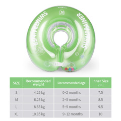 Baby Bath Swimming Neck Float Inflatable Adjustable Safety Aids Baby Swimming Neck Ring for 0-12 Month For Kids
