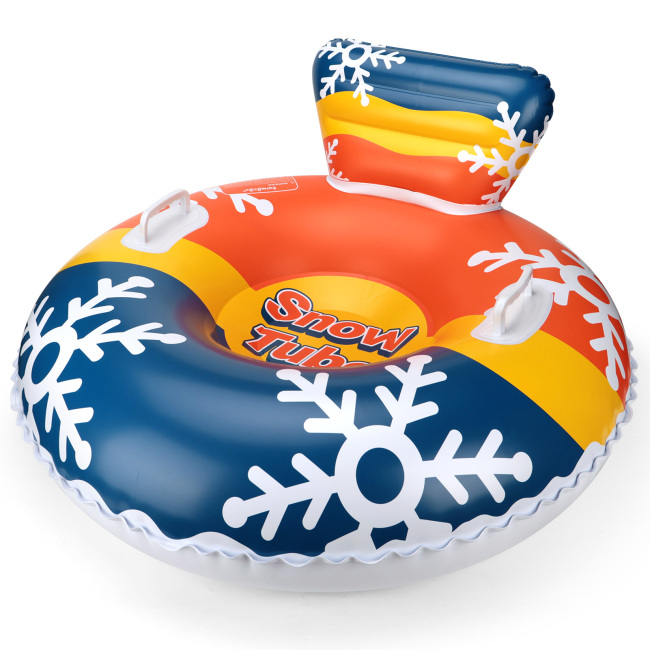 Inflatable Snow Tube for Kids and Adults - Christmas Gift - Heavy Duty Snow Sled with Strengthened Handles Sledding Tube for Winter